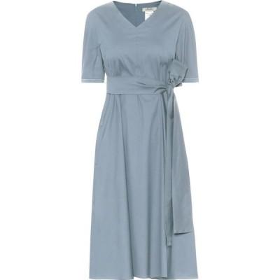 マックスマーラ S Max Mara レディース ワンピース ミドル丈 ワンピース・ドレス Lea cotton-blend midi dress