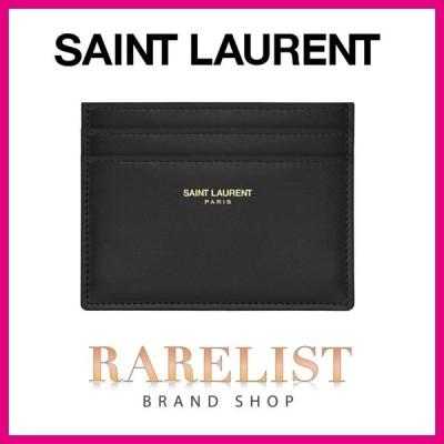 サンローラン SAINT LAURENT PARIS カードケース 名刺入れ パスケース 新作 ノワール ブラック 黒 カーフ レザー 本革 YSL クラシック