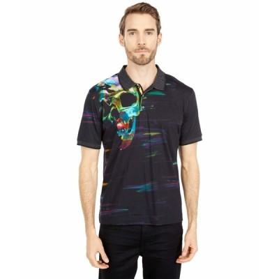 ロバートグラハム シャツ トップス メンズ Vanish Short Sleeve Knit Polo Black