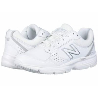 New Balance ニューバランス レディース 女性用 シューズ 靴 スニーカー 運動靴 411 White/White【送料無料】
