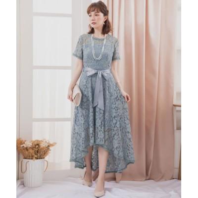 【ドレス スター】 フィッシュテールレースワンピース レディース ブルー Sサイズ DRESS STAR