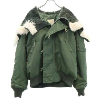 プラクト N-2Bタイプ ミリタリージャケット L カーキグリーン PRACT 中綿 メンズ 古着 201106