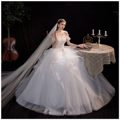 ウェディングドレス ロングドレス 格安 ウエディングドレス 韓国 披露宴 二次会 結婚式 イベント 演奏会 発表会 フォーマルドレスオシャレ高級感