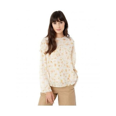 Vince ヴィンス レディース 女性用 ファッション ブラウス Pressed Petal Long Sleeve Blouse - Off-White
