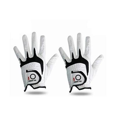 FINGER TEN Men's Golf Glove Left Hand Fit Right Handed Golfer Value Pack Al