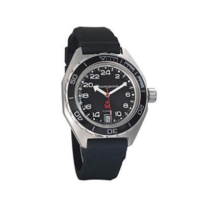 (輸入品)Vostok Komandirskie Automatic 24 Hour Dial Russian Military Wristwatch WR 200m (650541 Resin)