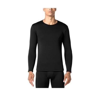 (ラパサ)Lapasa あったかインナー 防寒肌着 特厚保温インナー 長袖シャツ 冬用起毛 M26 日本LLブラック(厚手シャツ 1枚だけ)