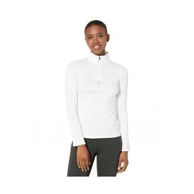Spyder スパイダー レディース 女性用 ファッション アクティブシャツ Tempting Zip T-Neck - White