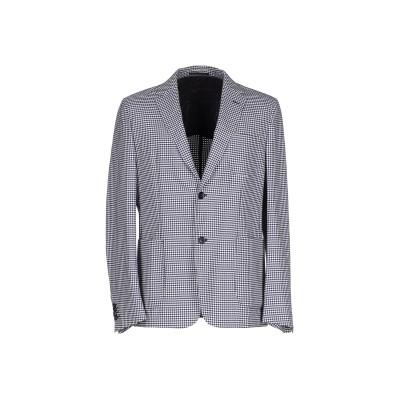 ZZEGNA テーラードジャケット ダークブルー 48 ウール 100% テーラードジャケット