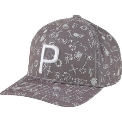 プーマ 帽子 アクセサリー メンズ PUMA Men's Desert P 110 Snapback Golf Hat QuietShade