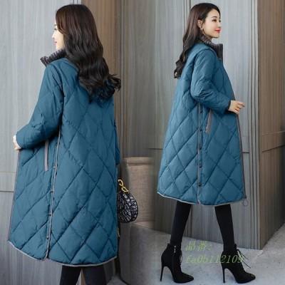 中綿ダウンコート レディース コート アウター 冬服 ロングコート 40代 大きいサイズ 30代 ダウンコート キルティング 中綿コート 防寒服