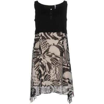 ピアヌラストゥーディ�� PIANURASTUDIO ミニワンピース&ドレス ブラック 38 レーヨン 100% ミニワンピース&ドレス