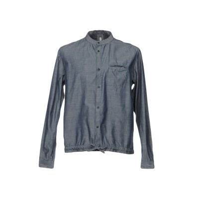 BICOLORE® デニムシャツ ブルー XL コットン 50% / 麻 50% デニムシャツ
