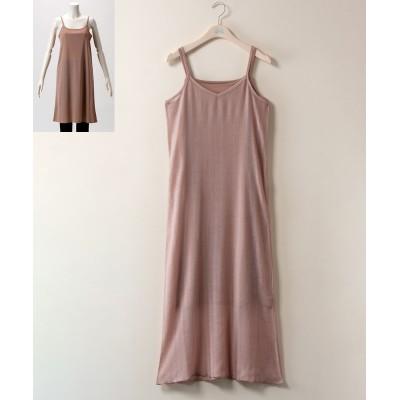 【大きいサイズ】 2点セット(アウターワンピース+インナーキャミソール)透け素材 ワンピース, plus size dress