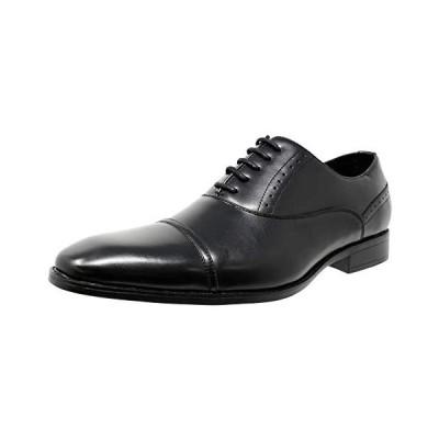 [神戸リベラル] LIBERAL メンズビジネスシューズ  国内販売店 ストレートチップ 内羽根 紳士靴 (ブラック 24.5 cm 3E)
