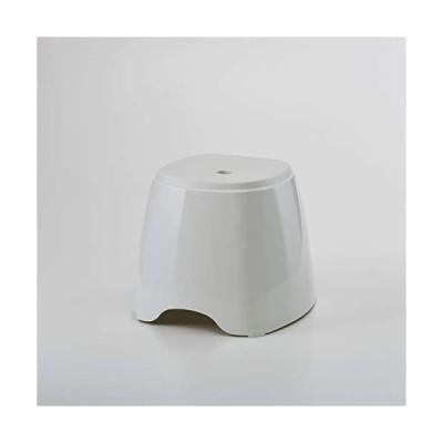 藤栄 バスチェア ホワイト 幅35×奥行35.5×高さ30.5cm &HAT バススツール AH-001