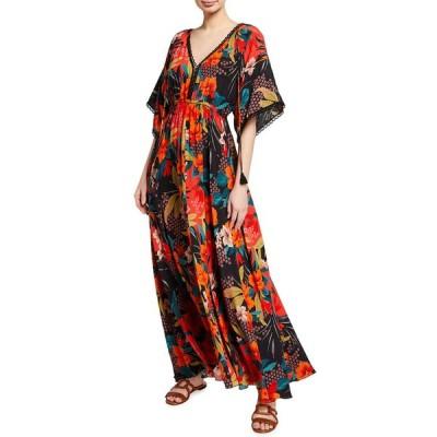 ジョニーワズ レディース ワンピース トップス Kat Floral Print Maxi Dress