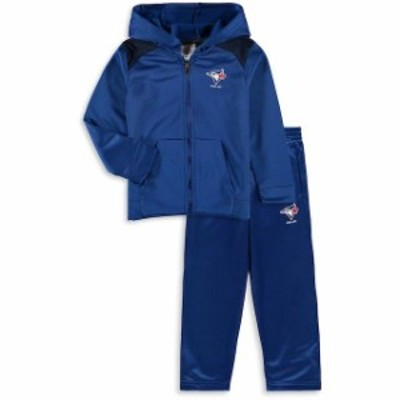 Majestic マジェスティック スポーツ用品  Majestic Toronto Blue Jays Toddler Royal Play Action Full-Zip Hoodie & Pan