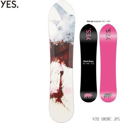 21-22 イエス スノーボード 板 YES 420 UnInc. JPS 男性用 メンズ スノボ 2022 正規品