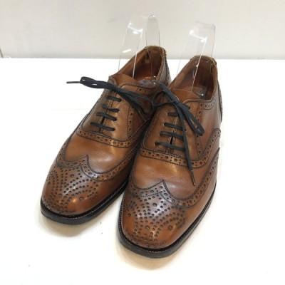 BALLY FRANCE バリー 【MEN2083G】  オックスフォードショーズ メダリオン ウィングチップ 靴 ローファー ヴィンテージ ムーラン フランスライン 茶 25 メンズ