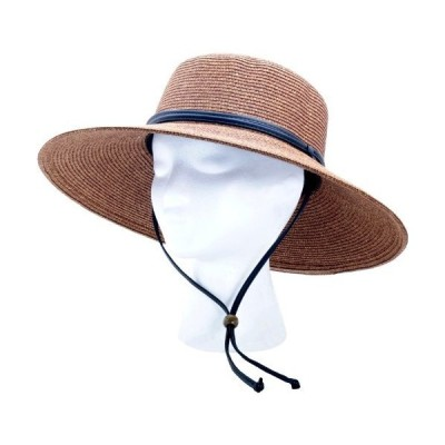 Sloggers Women's Wide Brim Braided Sun Hat-WMNS DRK BRN BRAIDED HAT (並行並行輸入