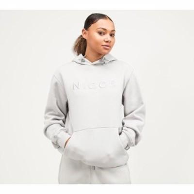 ニッチェ ロンドン Nicce レディース パーカー トップス mercury hoodie Stone Grey