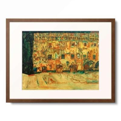 エゴン・シーレ Egon Schiele 「Das Krumauer Rathaus II, 1911.」