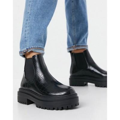レイド Raid レディース ブーツ チェルシーブーツ シューズ・靴 Ronnie Chunky Chelsea Boots In Black ブラック