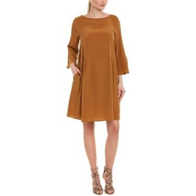 マックスマーラ レディース ワンピース トップス Max Mara Studio Silk Shift Dress cognac