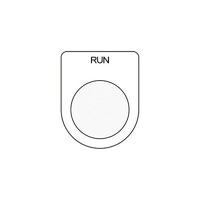 アイマーク IM 押ボタン/セレクトスイッチ(メガネ銘板) RUN 黒 22.5 P22-38 [A230101]