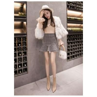 ミニスカート スカート レディース 大きいサイズ フィッシュテール フレアスカート おしゃれ かわいい L61 sk