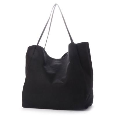 ヴィータフェリーチェ VitaFelice ビッグキャンバストートバッグ A4 収納力 通勤通学 デイリーバッグ 旅行用バッグ トートバッグ (BLACK)