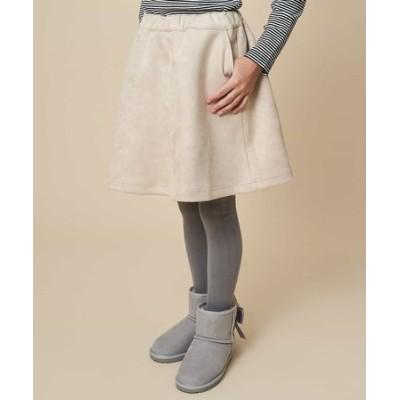 【洗濯機で洗える】[140-150]フェイクスエードダンボールスカート