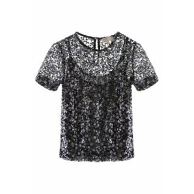 MICHAEL KORS/マイケルコース レースシャツ ORCHID HAZE Michael michael kors sequined t-shirt レディース 春夏2020 MS05MJCE6R ik