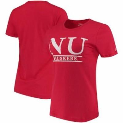 League Collegiate Wear リーグ コレクティブル ウェア スポーツ用品  Nebraska Cornhuskers Womens Scarlet League Freshy T-Shirt
