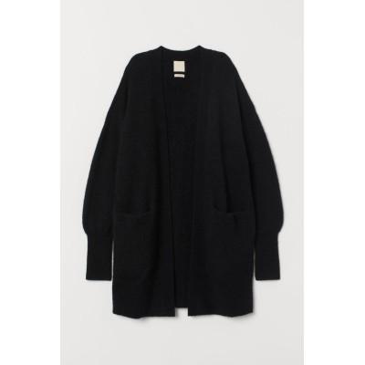 H&M - ウールブレンドカーディガン - ブラック
