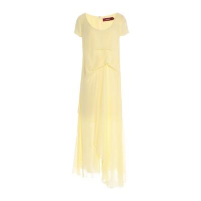 シエス・マルジャン SIES MARJAN 7分丈ワンピース・ドレス イエロー 4 シルク 100% 7分丈ワンピース・ドレス