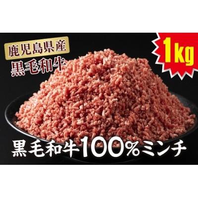 A1-22156/鹿児島産黒毛和牛【100%】ミンチ1kg