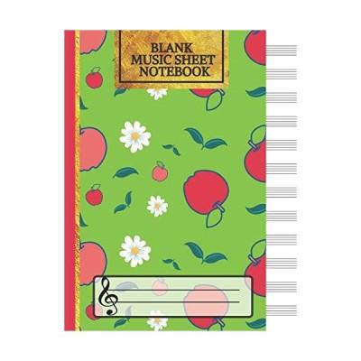 Blank Music Sheet Notebook: Music Manuscript Paper Staff Paper Music Notebo