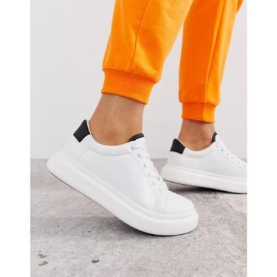 エイソス ASOS DESIGN レディース スニーカー シューズ・靴 Doro chunky lace up trainers in white White