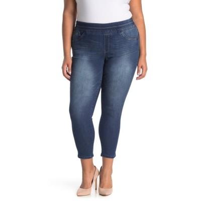 デモクラシー レディース デニムパンツ ボトムス Ab Tech Glider Ankle Length Skinny Jeans BLUE