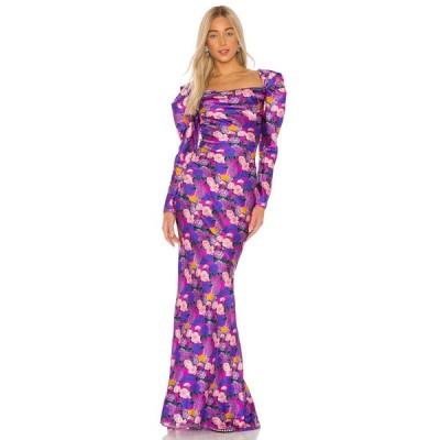 ジュゼッペ ディ モラビト GIUSEPPE DI MORABITO レディース パーティードレス ワンピース・ドレス Printed Silk Gown Fuchsia
