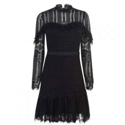 バルドー Bardot レディース ワンピース ワンピース・ドレス tessie lace dress Black