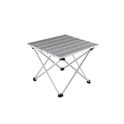 ロールテーブル アウトドアテーブル-創優会 アルミ製折りたたみテーブル 軽量 耐熱 酸化加工 防水防錆 安定感抜群 収納袋付き コンパクト収納 山登り