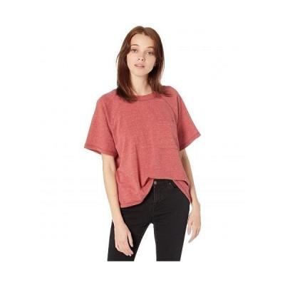 Madewell レディース 女性用 ファッション Tシャツ Raglan Sleeve Cropped Tee - Heather Weathered Brick