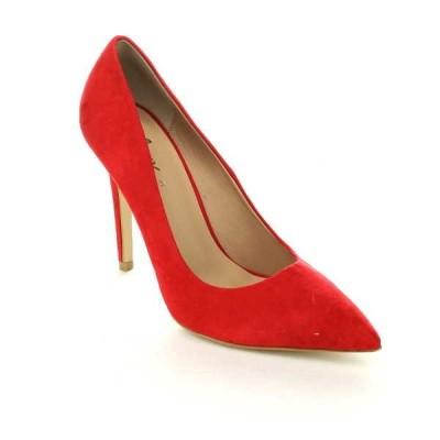 ヒール パンプス ビジネス シューズ 靴  Mixx shuz KAYLA-02 レディース クラシック Occupational Closed Pointed トゥ ドレス  RED SUEDE