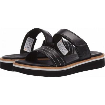 ティンバーランド Timberland レディース サンダル・ミュール シューズ・靴 Adley Shore 2-Band Slide Black Full Grain Leather