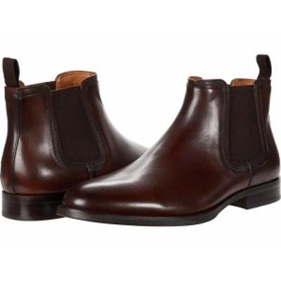 スティーブ マデン メンズ ブーツ・レインブーツ シューズ Agaze Chelsea Boot Cognac Leather