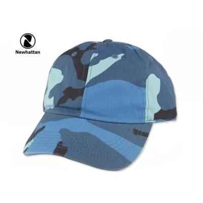 ☆NEWHATTAN【ニューハッタン】COTTON STONE WASHED CAP BLUE CAMO コットン ウォッシュド キャップ ブルーカモ 13382