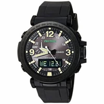 腕時計  カシオ メンズ Pro Trek クォーツウォッチ シリコンストラップ ブラック 30.5 (モデル:PRG-600Y-1CR)